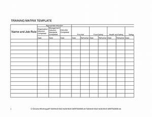 training matrix excel pertaminico With safety training matrix template