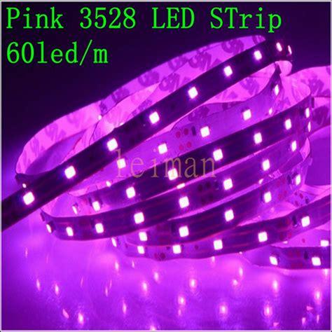pink led strip lights high quality dc12v 5m 60led m pink led strip 3528 smd