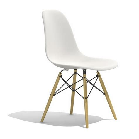 eames dsw plastic dining side chair 3d model 3dsmax