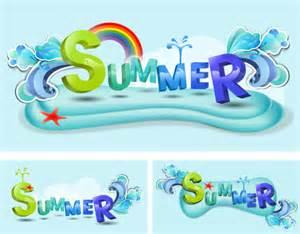 schriftarten design schlsselwrter sommer sommer vektor design elemente schriftarten free