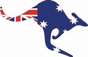 AUSTRALIA FLAG AUSSIE OZ KANGAROO Wall Car Truck Vinyl ...