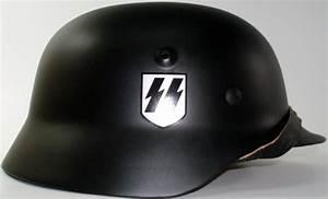 WWII German M40 Black SS Helmet: Shop Military Goods in