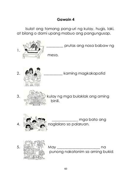 uri ng pangungusap worksheets  grade  worksheets