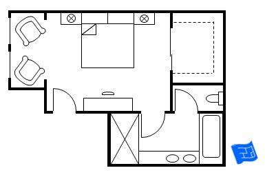 Bathroom Floor Plans With Walk In Closets by Master Bedroom Floor Plans With Ensuite On