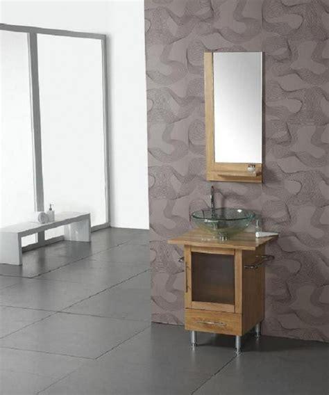24 Inch Modern Single Sink Bathroom Vanity with Clear