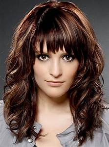 Medium length haircuts with bangs for wavy hair