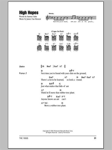 High Hopes Sheet Music  Frank Sinatra  Lyrics & Chords