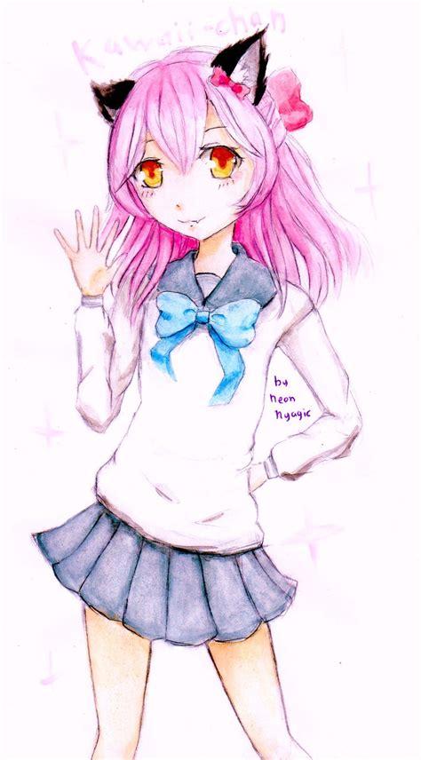 fanart anime kawaii kawaii chan by neonnyagic on deviantart
