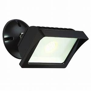 Flood lights for lawn : Envirolite bronze outdoor led adjustable single head flood