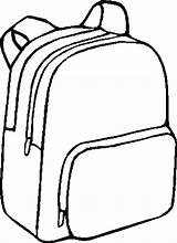 Backpack Coloring Backpacks Bag Bags Drawing Template Bookbag Printable Sketch Printing Pa sketch template
