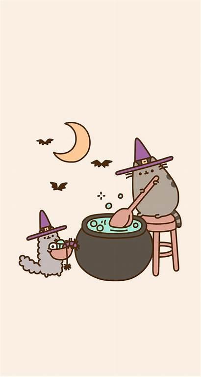 Backgrounds Pusheen Fall Aesthetic Halloween Cat Wallpapers