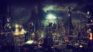 Fantasy, Art, Night, Fan, Art, Artwork, Cityscape, Cyberpunk
