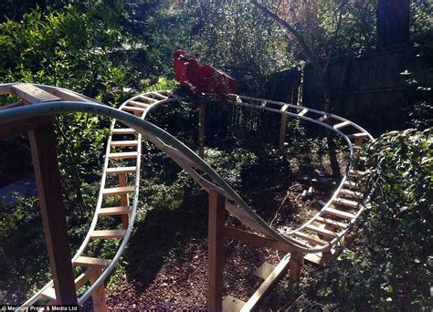 backyard built californian builds roller coaster in his back garden