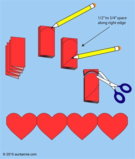 paper heart chains valentines crafts aunt