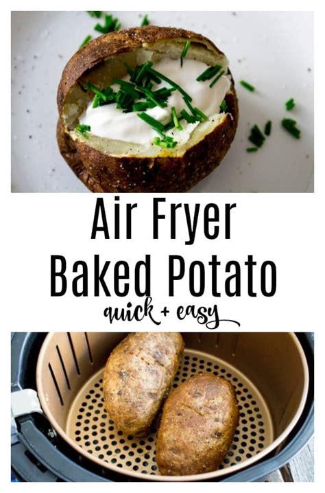 fryer air baked potatoes potato recipes vegetarianmamma meal cook