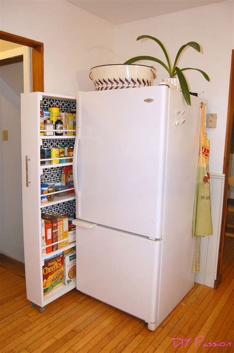 Hometalk   DIY space saving rolling kitchen pantry
