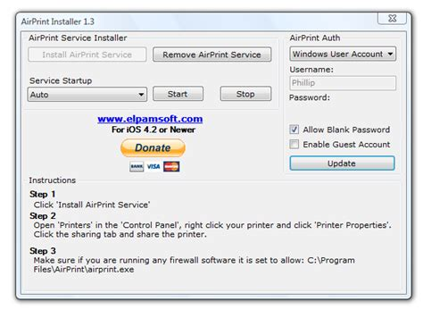 how to set up airprint on iphone sutthi thomya setup airprinter printer for ios from windows