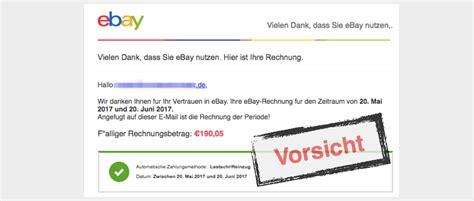 spam mail ihre ebay rechnung fuer maerz ist ab jetzt