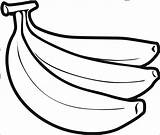 Banana Coloring Pages Coloringbay sketch template