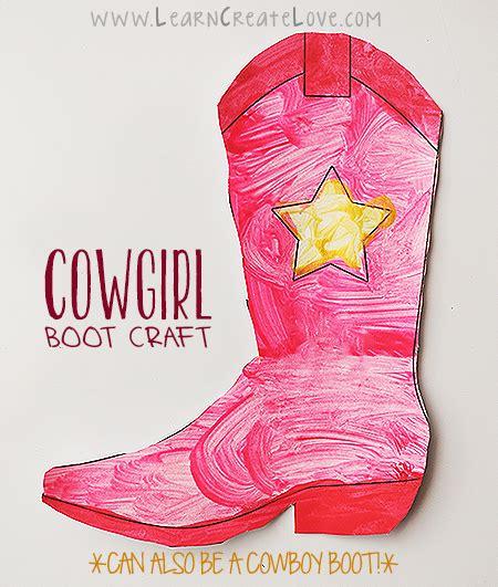 printable cowboy boot craft learncreatelove 718 | 162512d03d2718e7ec09d6730c274ad4