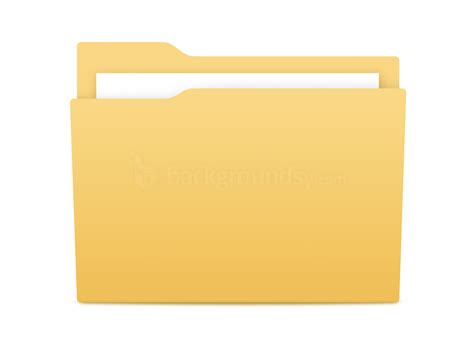 top office bureau yellow folder icon psd backgroundsy com