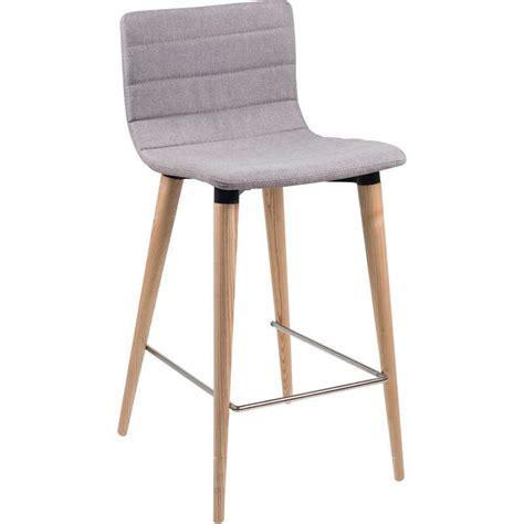 tabouret de bar schmidt tabouret snack scandinave en tissu et bois doris 4 pieds tables chaises et tabourets