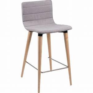 Tabouret Haut Scandinave : tabouret snack scandinave en tissu et bois doris 4 pieds tables chaises et tabourets ~ Teatrodelosmanantiales.com Idées de Décoration