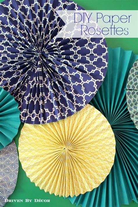 diy tutorial    paper rosettes driven  decor