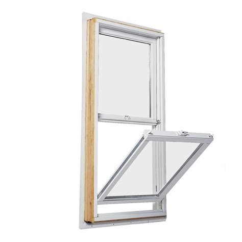 andersen       series double hung wood window  white exterior