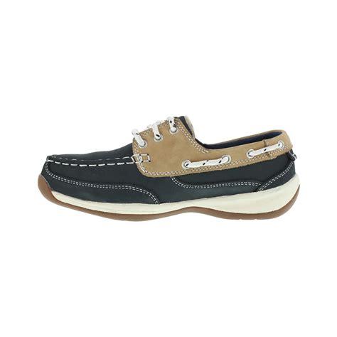 Boat Shoes Navy Blue by Rockport S Navy Blue Boat Shoe Steel Toe Rk670