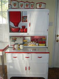 17 best images about hoosier cabinets on pinterest green With red and white kitchen cabinets