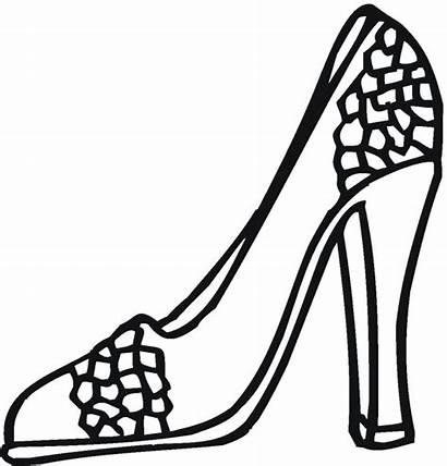 Coloring Pages Heel Heels Shoe Beauty Freecoloringpagefun