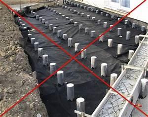 terrasse bois composite sur plots beton With maison bois sur plots 1 fondation et dalle pour une nouvelle construction