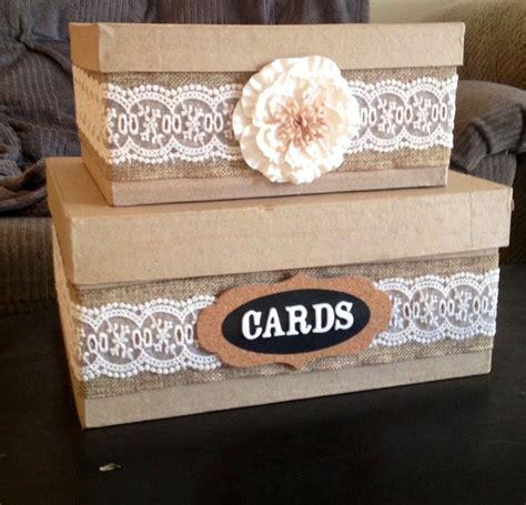 diy country wedding card box wedding