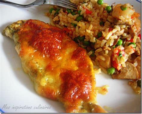 cuisiner des escalopes de poulet escalope de poulet au pesto et mozzarella par mes