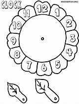 Clock Coloring Pages sketch template