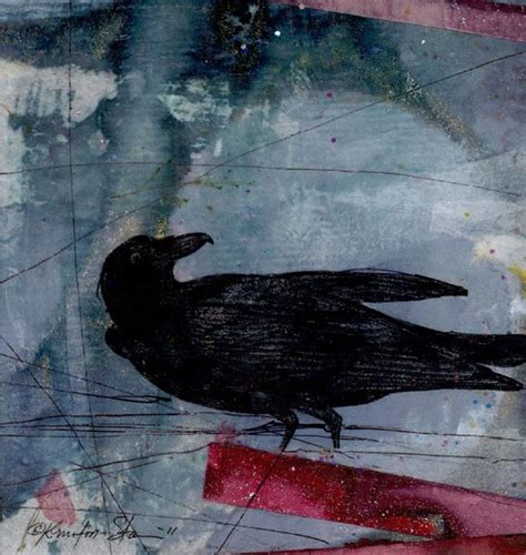 crow  kathy morton stanion  animal art