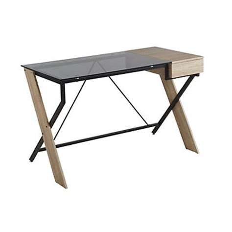 bureau en verre fly bureau en verre fly table l cm grischne oak with bureau