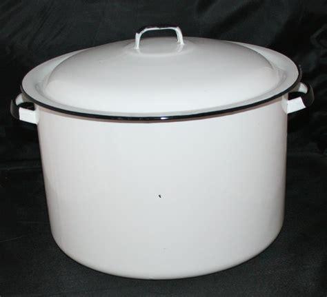 enamel stock pot vintage enamel enamelware stock pot cookware canning 3567