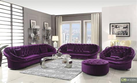 collection  velvet purple sofas