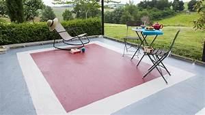 Peinture Terrasse Béton : donnez l illusion d un tapis sur le sol en b ton de votre ~ Premium-room.com Idées de Décoration