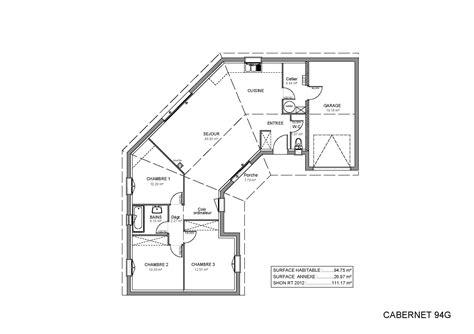 plan de maison plain pied 4 chambres avec garage plan maison plain pied modles et plans de