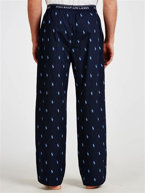 polo ralph lauren pony print lounge pants  blue  men