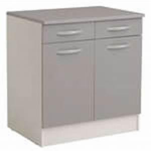 meuble bas 80 cm 2 portes 1 tiroir spoon color coloris With meuble bas de cuisine 60 cm 1 meuble bas 80 cm 2 portes 2 tiroirs spoon coloris blanc