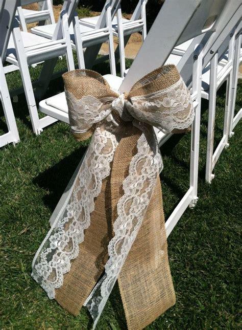 hessian burlap lace wedding wedding flair