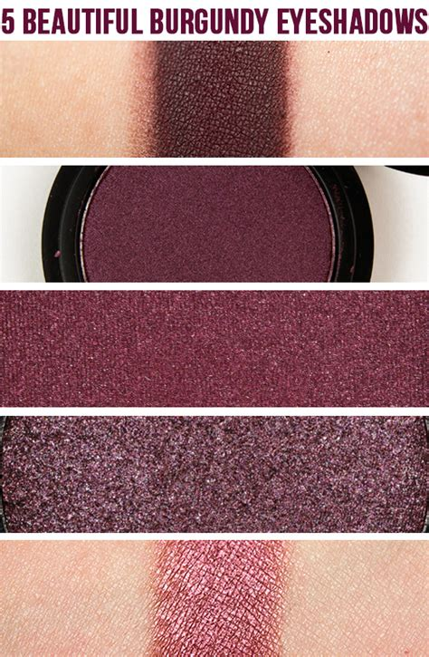 beautiful burgundy eyeshadows