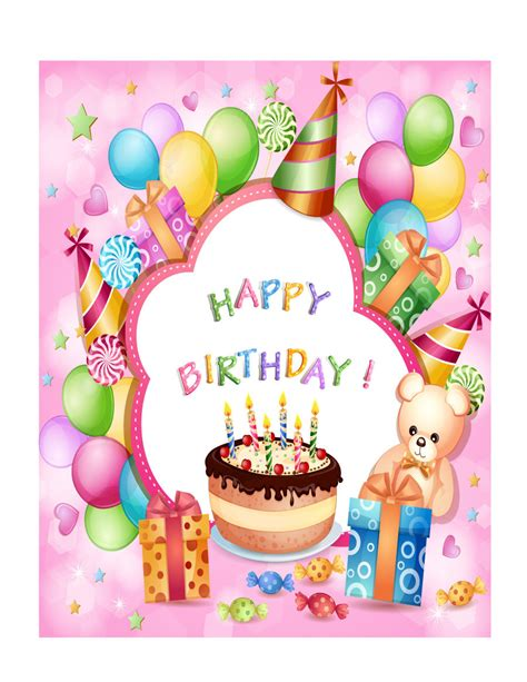 Birthday Card Picture by 41 Free Birthday Card Templates In Word Excel Pdf