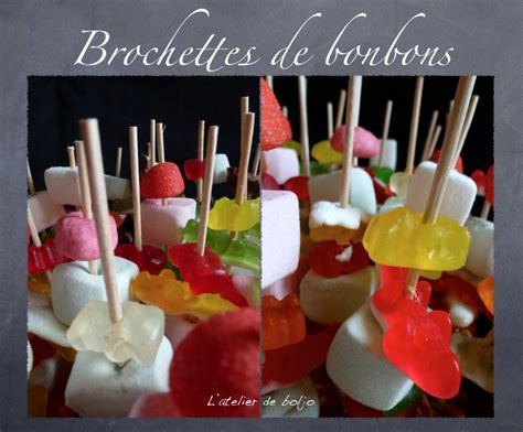 recettes de cuisine brochettes de bonbons l 39 atelier de boljo