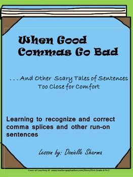 comma splice run on sentence powerpoint and practice