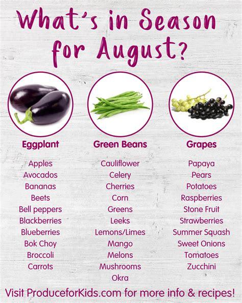 What's in Season for August, Summer Seasonal Produce ...